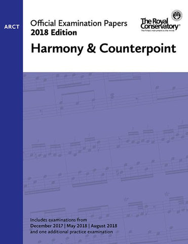 RCM - 2018 Examination Papers: ARCT Harmony & Counterpoint