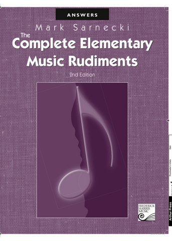 RCM - Mark Sarnecki Complete Elementary Music Rudiments, 2nd Edition: Answer Book