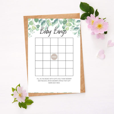 Eucalyptus - Baby Bingo | Baby Shower Game Your Party Games