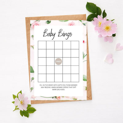 Roses - Baby Bingo | Baby Shower Game Your Party Games