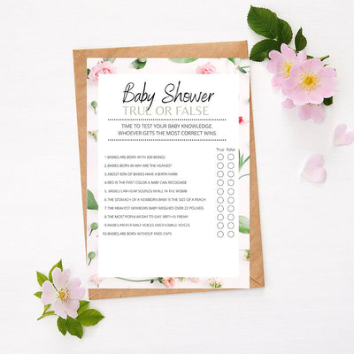 Roses - True or False | Baby Shower Game Your Party Games