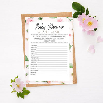 Roses - Word Game | Baby Shower Game Your Party Games