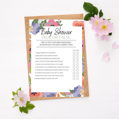 Spring Flowers - True or False | Baby Shower Game Your Party Games