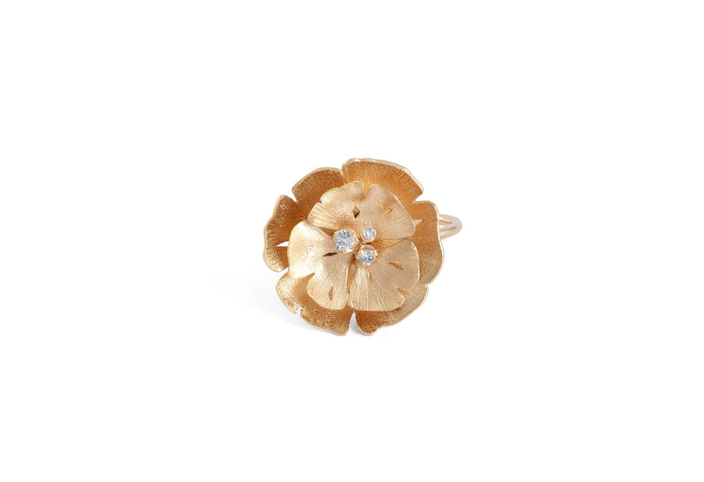 vever bague or diamant ginkgo