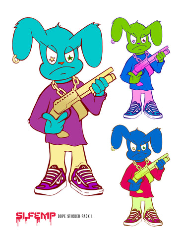 Shotgun Bunny Sticker Pack #3