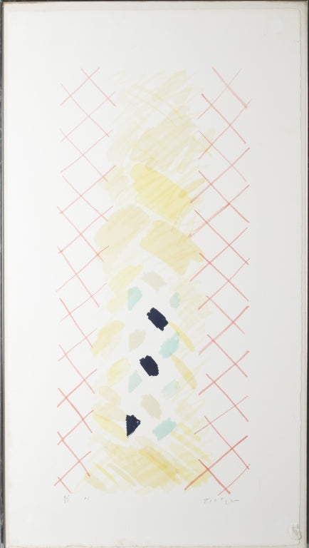 Green and Red abstract 1975 Lithograph by William Tillyer