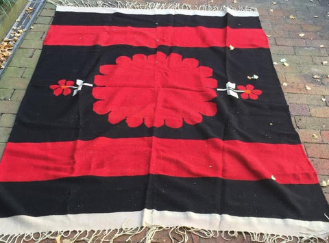 Hand woven Vintage rug/throw