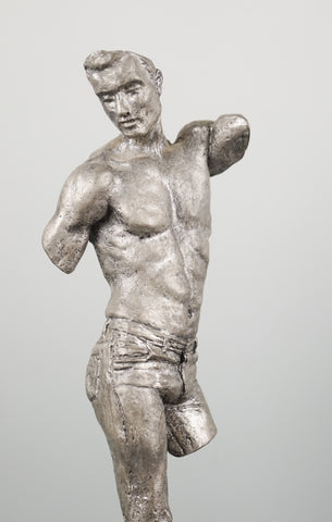 Metal sculpture of male torso - The Sweetwood Collection