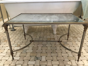 Vintage Jansen mirrored Regency table