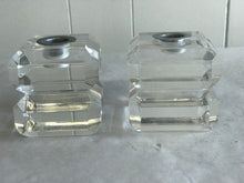 Lucite Mid Century candle holders - The Sweetwood Collection