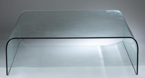 A Mid Century Angelo Cortesi Waterfall Glass Coffee Table for Fiam Italia, stamped.