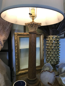 Pair of Antique Architectural Column lamps. - The Sweetwood Collection