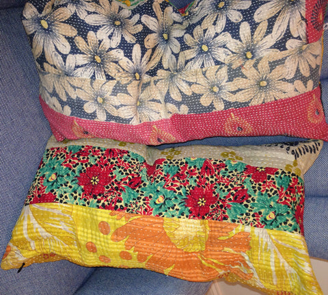 Vintage Katha pillows - The Sweetwood Collection