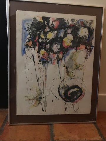 Framed Polychrome serigraph called