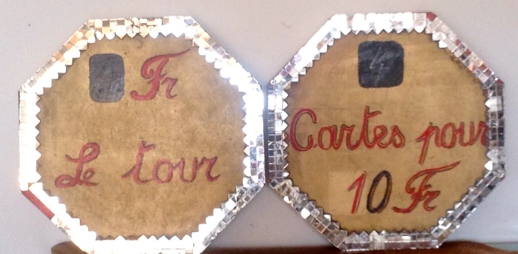 Pair of Vintage French Bistro signs