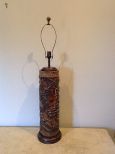 spectacular Wall Paper Roll lamp, large. - The Sweetwood Collection