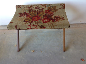 Vintage luggage tapestry fabric rack - The Sweetwood Collection