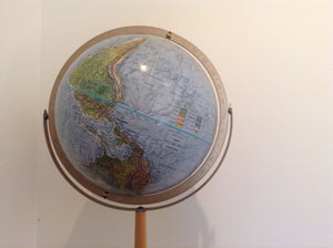 Mid Century Globe with wood stand - The Sweetwood Collection