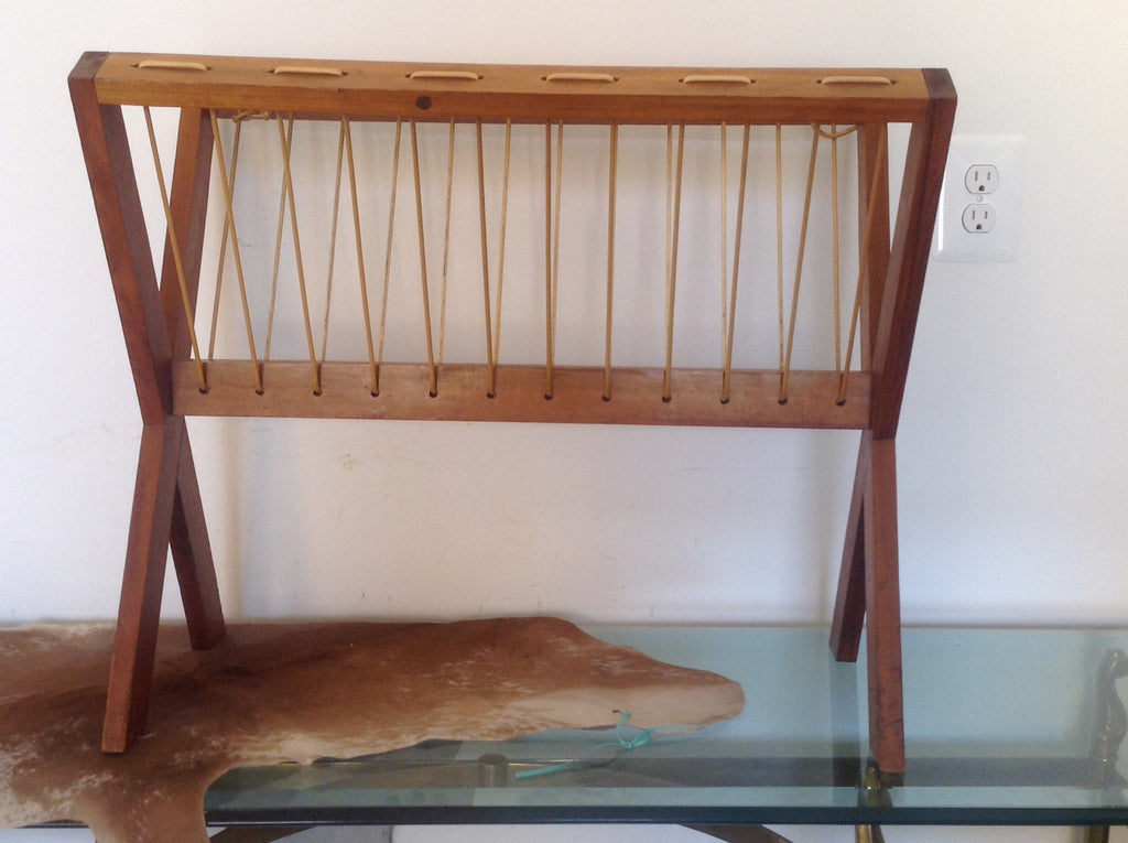 Mid Century Wood magazine rack - The Sweetwood Collection