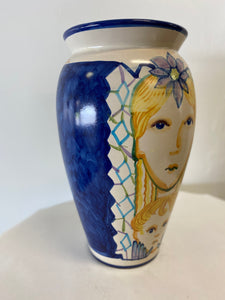 Hand Painted Italian Vase, signed