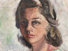 Vintage Portrait of a Female oil on board