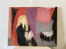 Vintage Abstract Canvas of seated female