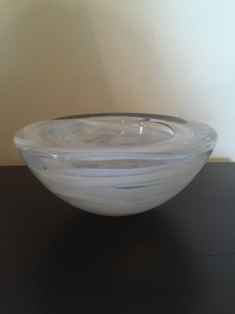 Murano White Bowl - The Sweetwood Collection