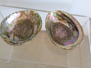 Pair of Abalone shells - The Sweetwood Collection