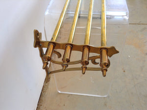 Brass Mid Century Rack/shelf - The Sweetwood Collection