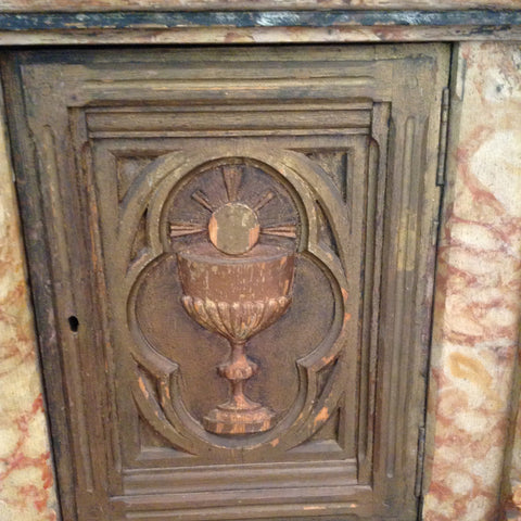 French Painted Tabernacle