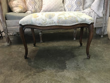 Vintage Italian upholstered wood bench - The Sweetwood Collection