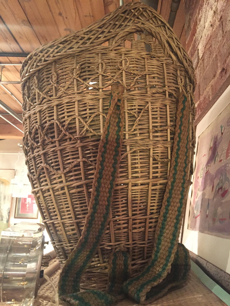 Antique French Gathering Basket - The Sweetwood Collection