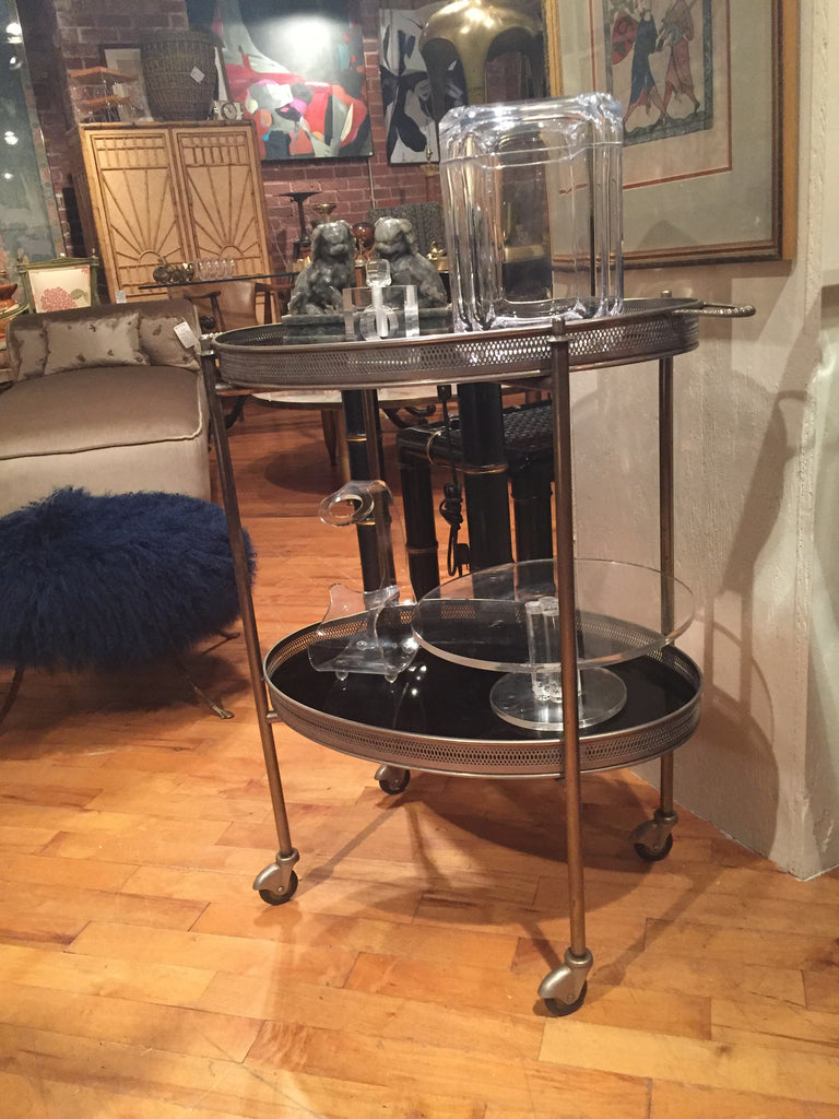 Two Tray Vintage bar cart