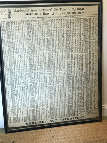 Vintage Stock Market Crash framed print - The Sweetwood Collection