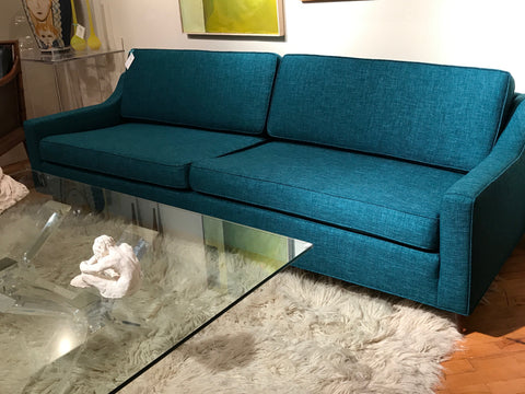 Mid Century 3 cushion upholstered sofa