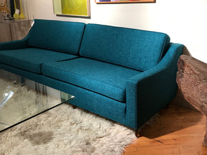 Mid Century 3 cushion upholstered sofa - The Sweetwood Collection