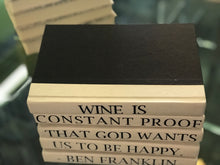 "Wine is constant proof that God wants us to be happy"": Set of 5 ""Ben Franklin"" quoted books - The Sweetwood Collection"