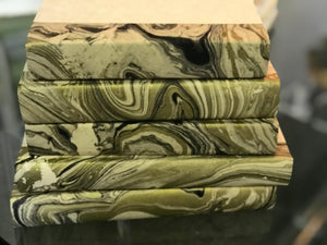 Metallic marbled set of 5 hand painted books - The Sweetwood Collection