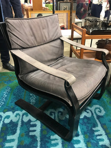 Mid Century Modern Leather Safari Chair - The Sweetwood Collection