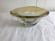 Mid Century Yellow Art glass bowl - The Sweetwood Collection
