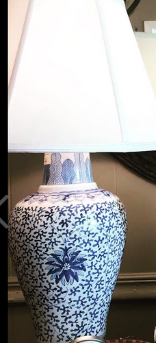 Blue & White Asian Lamps