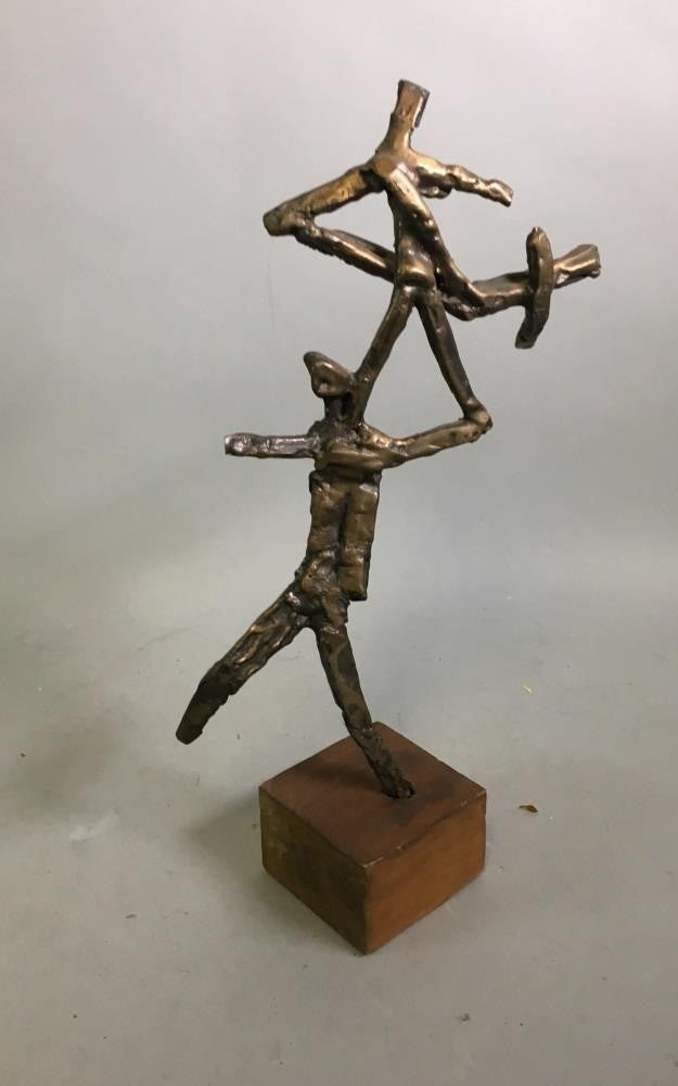 Abstract metal mid century sculpture