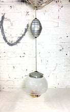 Vintage French Murano Pully Ceiling light with opaline glass. - The Sweetwood Collection