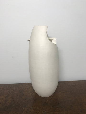 White Constructivism Pottery Vase - The Sweetwood Collection