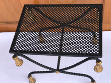 Hollywood Regency Italian metal X Bench - The Sweetwood Collection