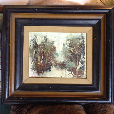 Framed oil on canvas with Wood Frame - The Sweetwood Collection