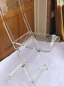 Lucite mid century folding chair - The Sweetwood Collection