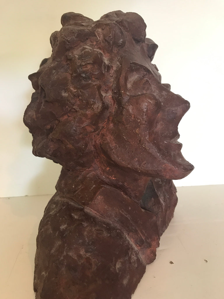 Sculpted bust of female