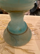 Italian Aquamarine Alabaster Footed compote - The Sweetwood Collection