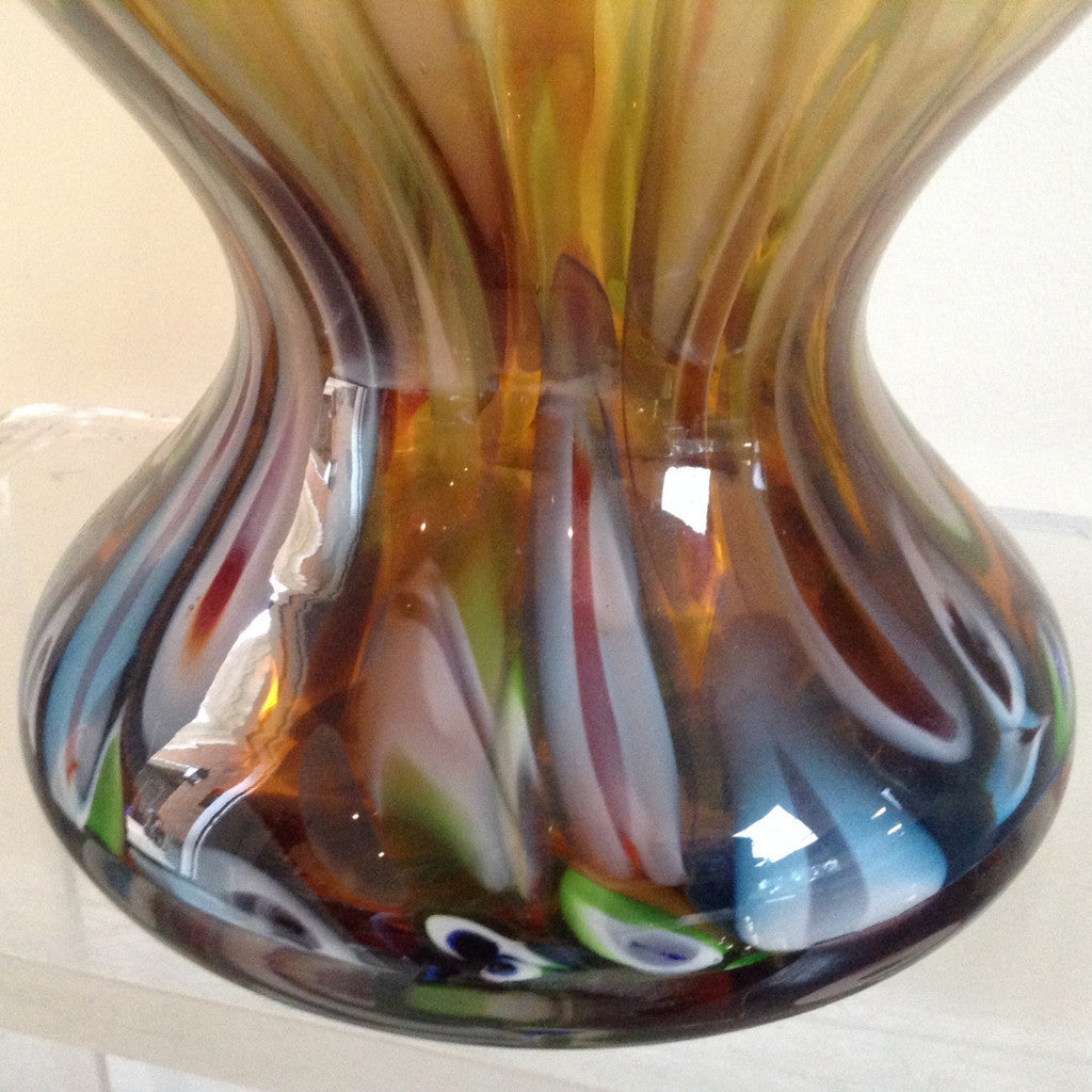 Tall Art Glass Vase - The Sweetwood Collection